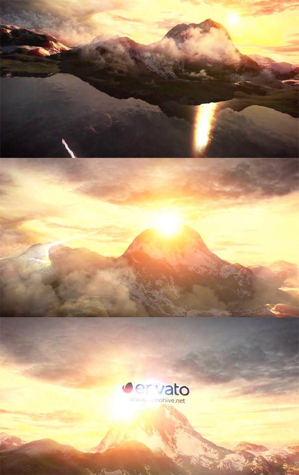 Sky and Mountains After Effects Logo