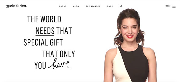 Marie Forleo brand message