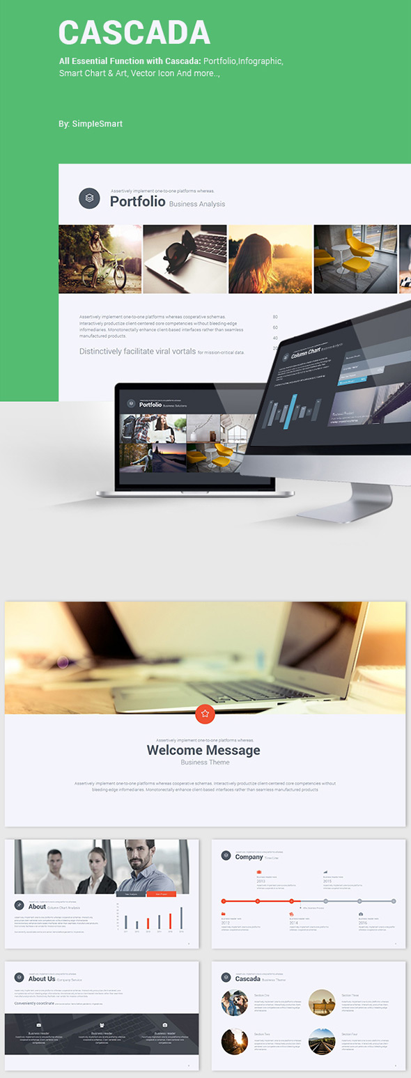 Cascada - Simple PowerPoint Business Theme