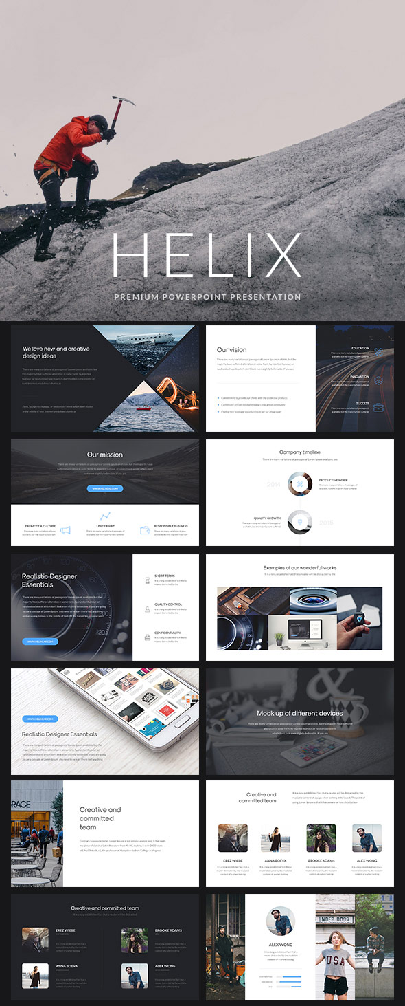 helix simple powerpoint presentation template