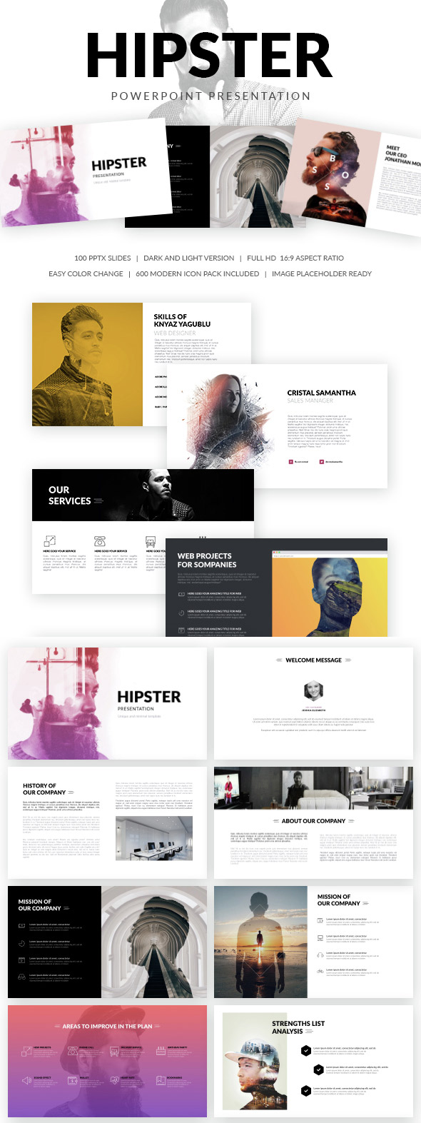20 ppt templates for simple modern powerpoint presentations hipster modern ppt presentation template toneelgroepblik Image collections