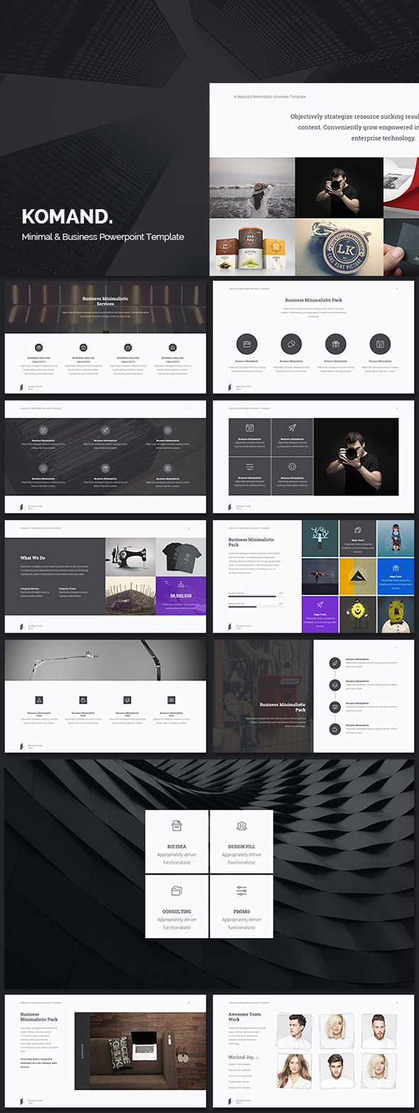 20 ppt templates for simple modern powerpoint presentations komand minimal ppt business theme toneelgroepblik Gallery