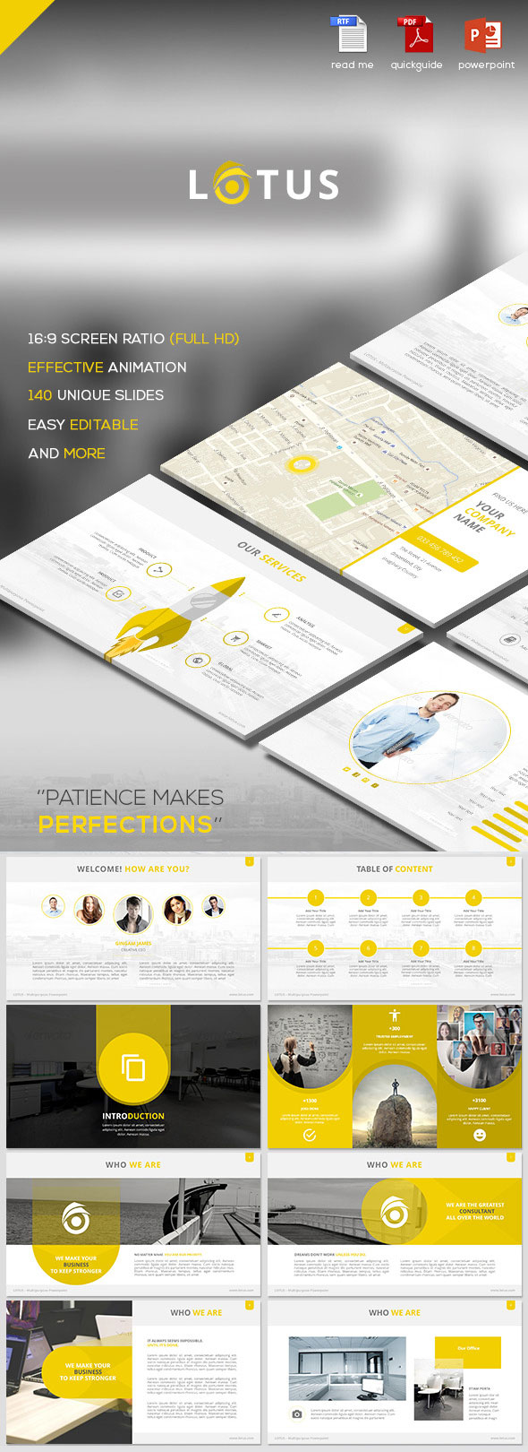 lotus simple multipurpose powerpoint template