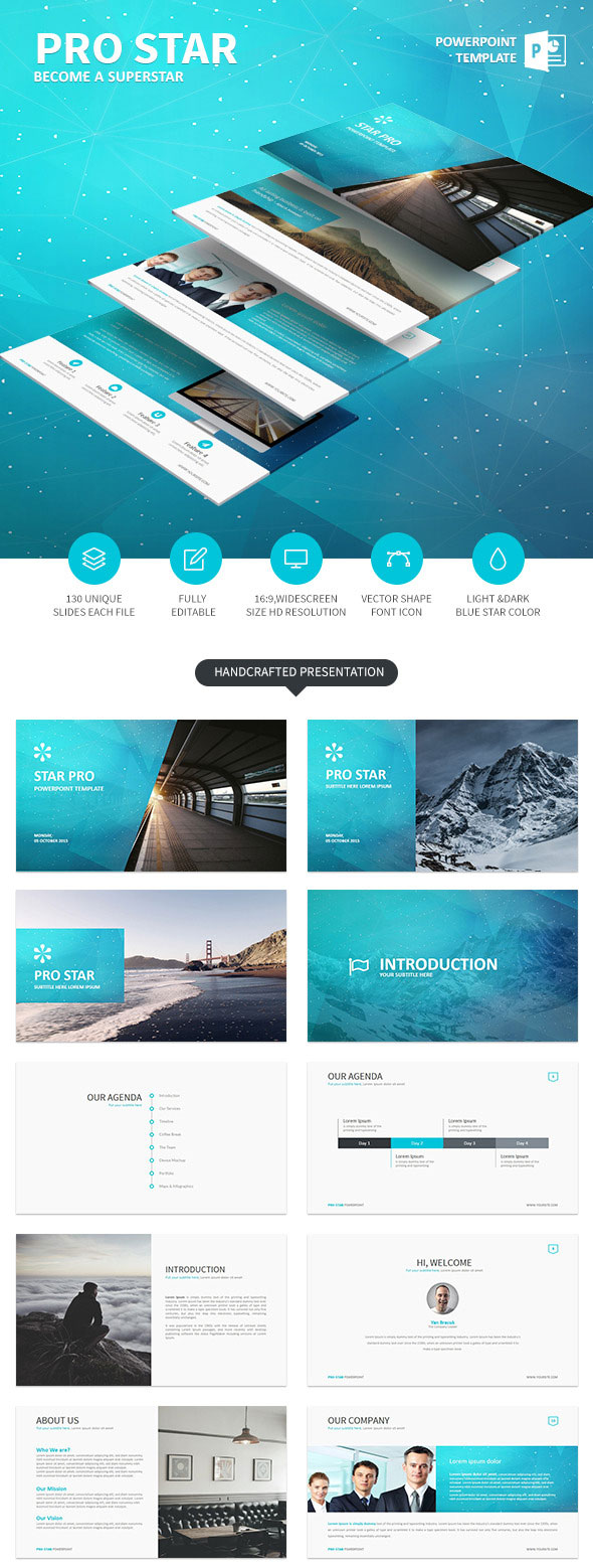 20 template ppt untuk presentasi powerpoint yang sederhana modern prostar simple powerpoint template toneelgroepblik Image collections