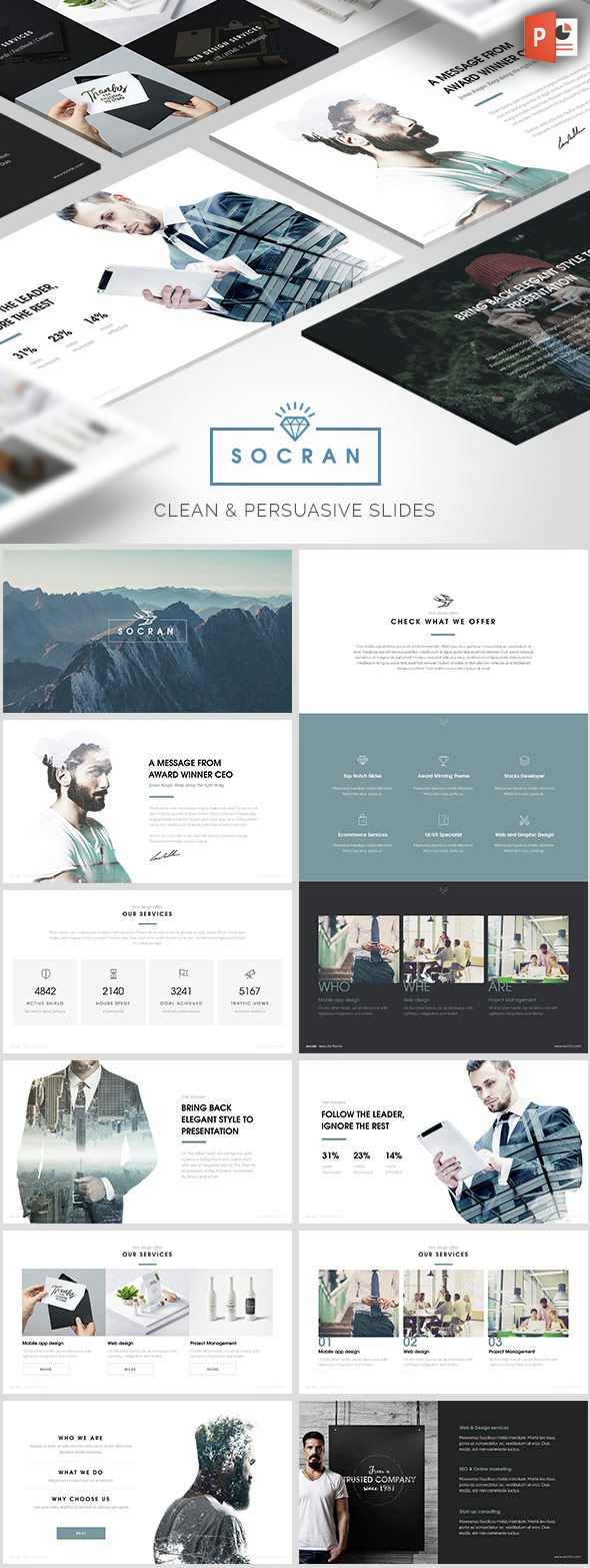 20 ppt templates: for simple, modern powerpoint presentations, Presentation templates