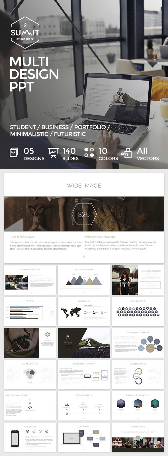 20 ppt templates for simple modern powerpoint presentations summit 2 minimal powerpoint template toneelgroepblik Gallery
