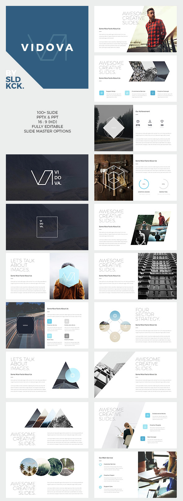 Vidova - Modern PPT Presentation Template Design