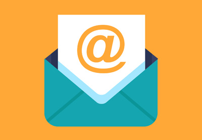 Professional email signature icon