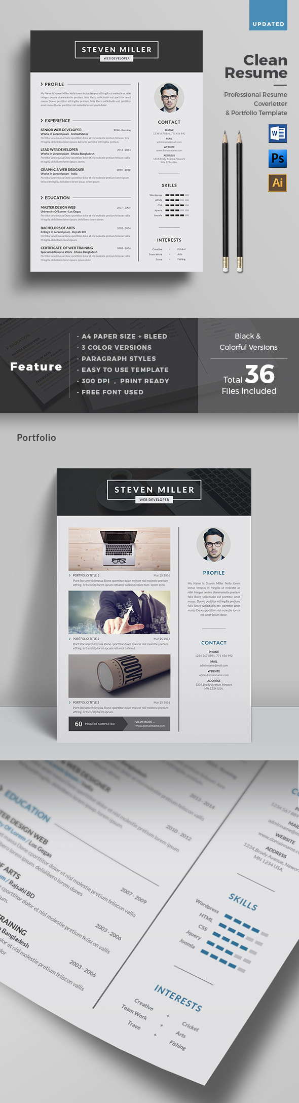 25 creative resume templates to land a new job in style clean creative resume template