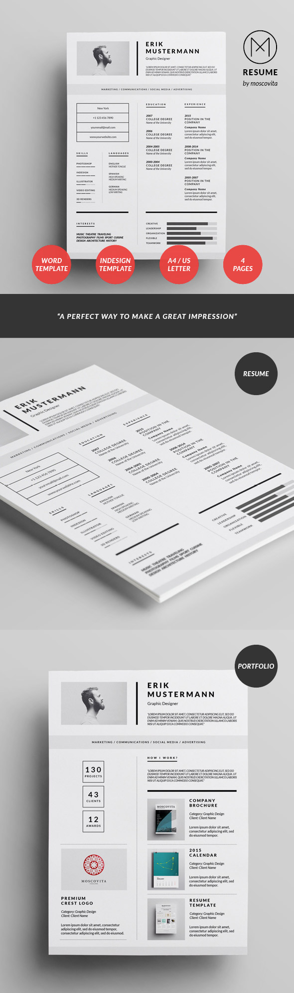 creative modern resume design