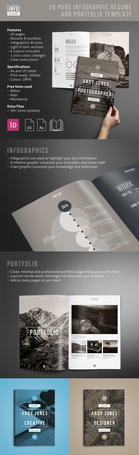 Infographic Resume and Portfolio Set