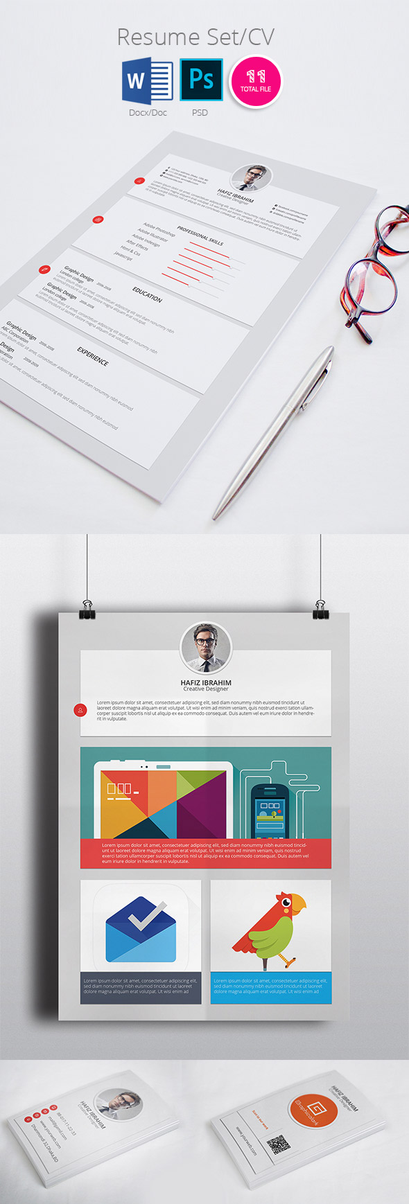 Modern Resume CV Template Design