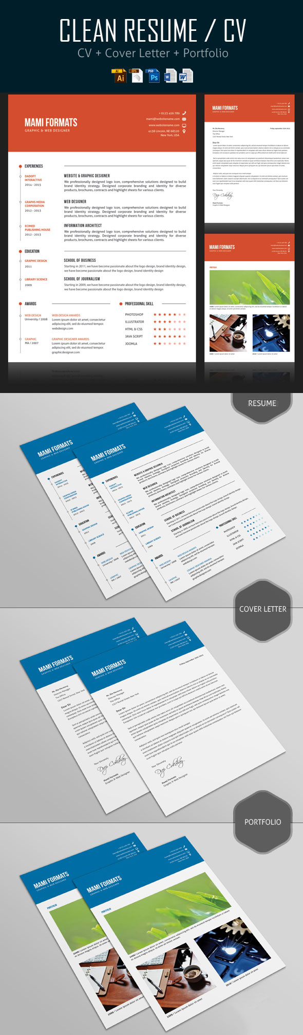 simple cvresume cover letter design - Creative Resume Design Templates