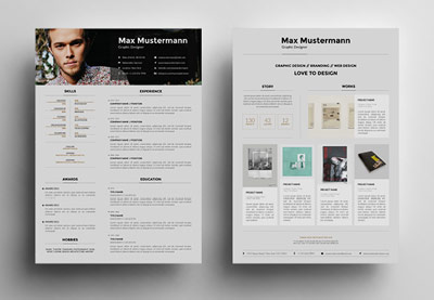 Creative resume templates design
