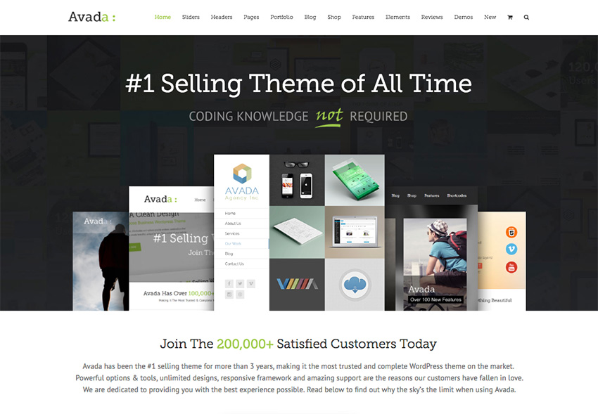 Avada is the best-selling theme on ThemeForest