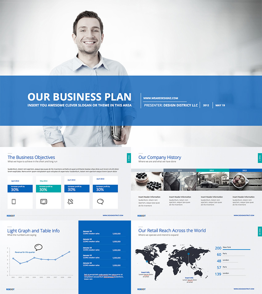 Best Pitch Deck Templates For Business Plan PowerPoint - Powerpoint business plan template