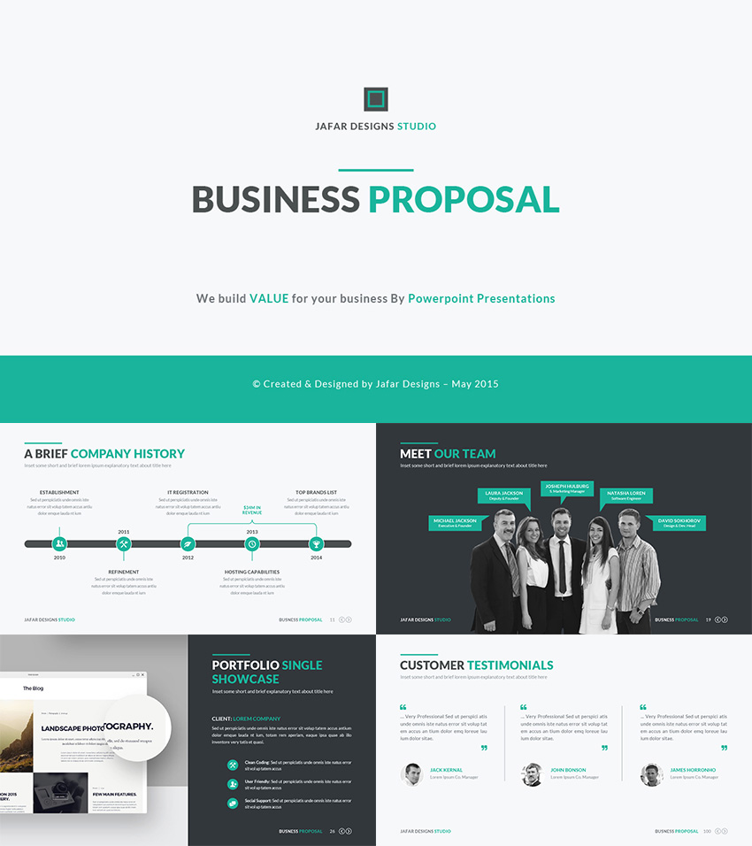 business plan presentation proposal ppt template