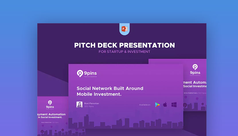 20 best pitch deck templates for business plan powerpoint presentations fintech startup pitch deck template ppt presentation flashek Image collections