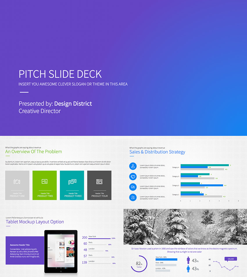 15 best pitch deck templates: for business plan powerpoint, Modern powerpoint