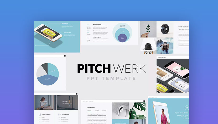 20 best pitch deck templates for business plan powerpoint presentations pitch werk elegant powerpoint pitch template deck wajeb Gallery