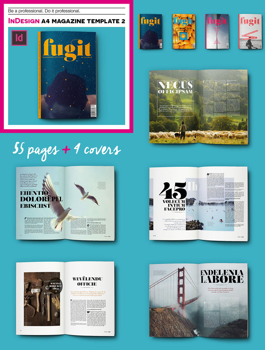 20 magazine templates with creative print layout designs for Magazine storyboard template