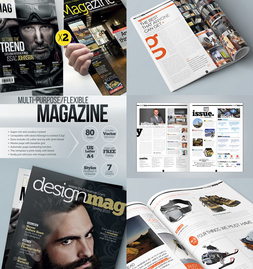 20 magazine templates with creative print layout designs for Designs magazine