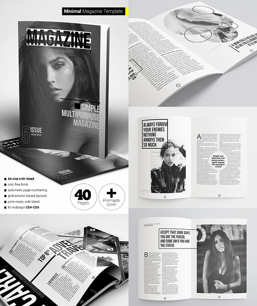 20 magazine templates with creative print layout designs for Magazine templates for pages