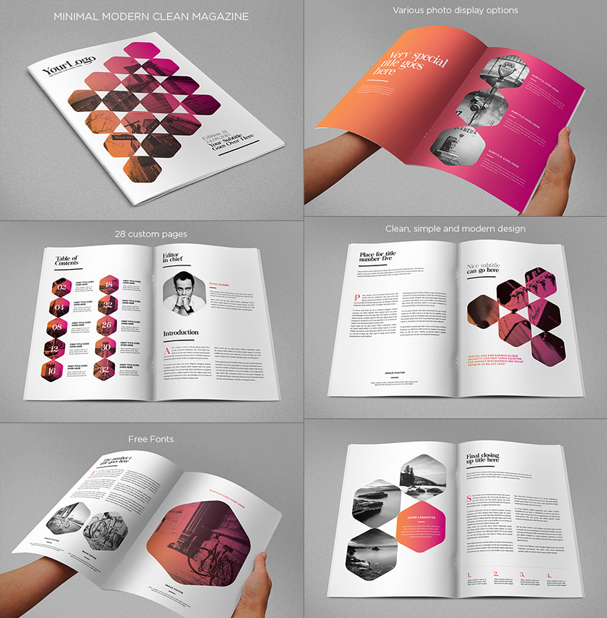 Modern Design Magazine 20 magazine templates with creative print layout designs