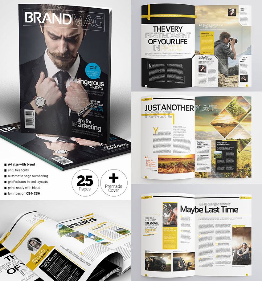 Magazine Templates With Creative Print Layout Designs