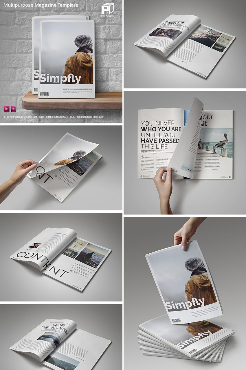 magazine templates creative print layout designs simple clean magazine layouts indd