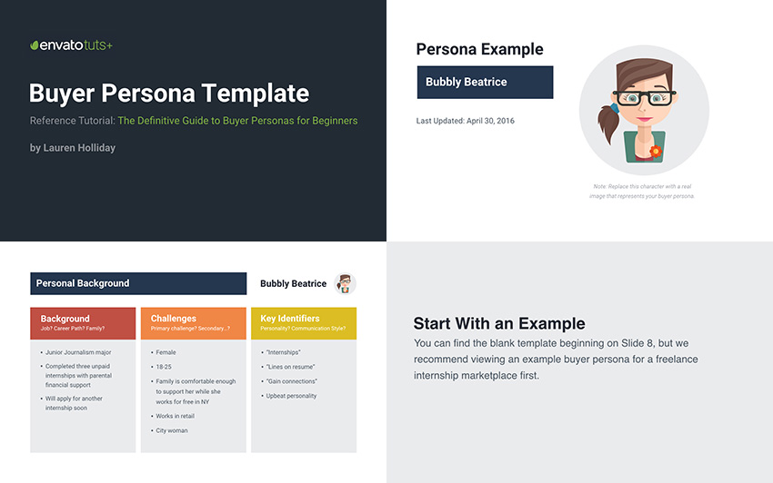 Buyer Persona Slide Template