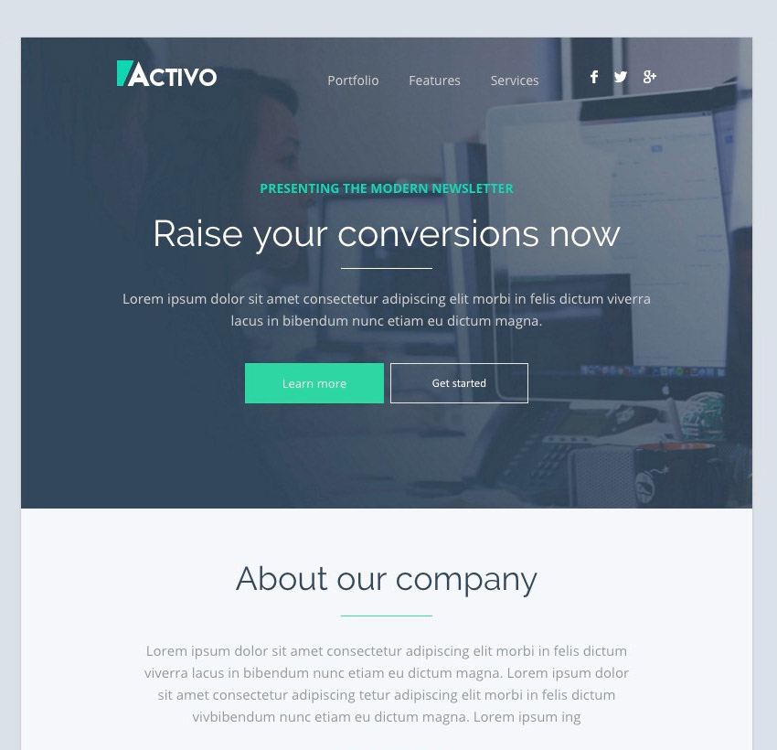 Activo - Email Templates Set with Online Builder