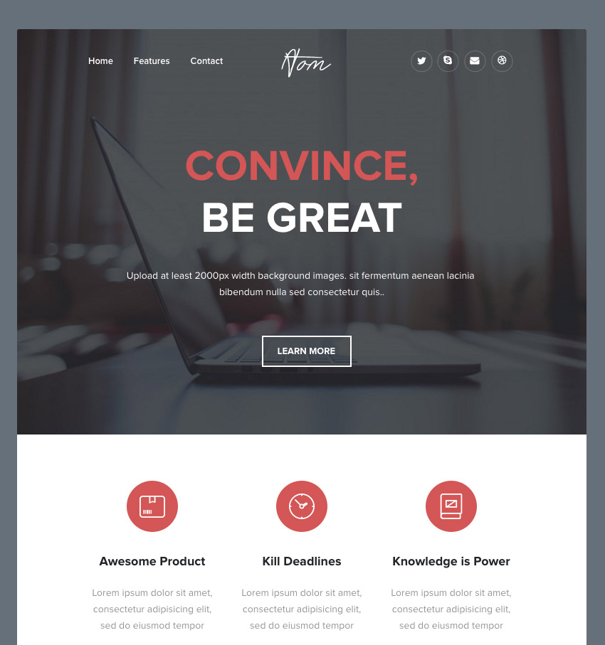 Atom - Responsive Email  MailChimp Compatible