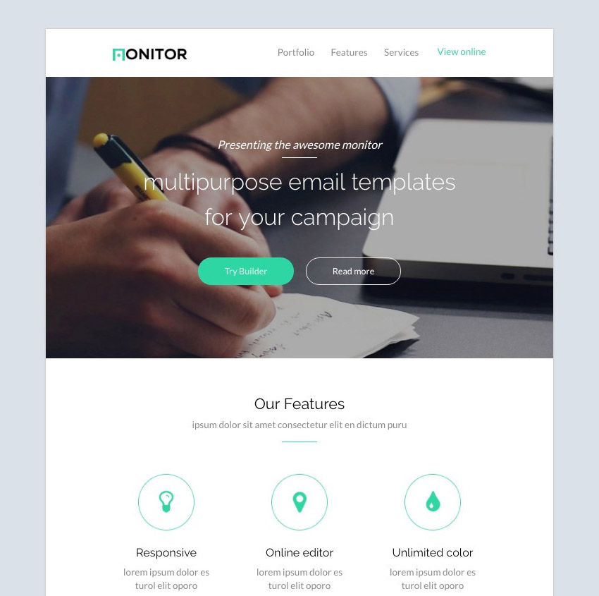 Monitor - Email Template Set  Builder 20