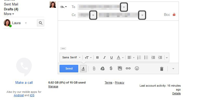 Remove contact in Gmail