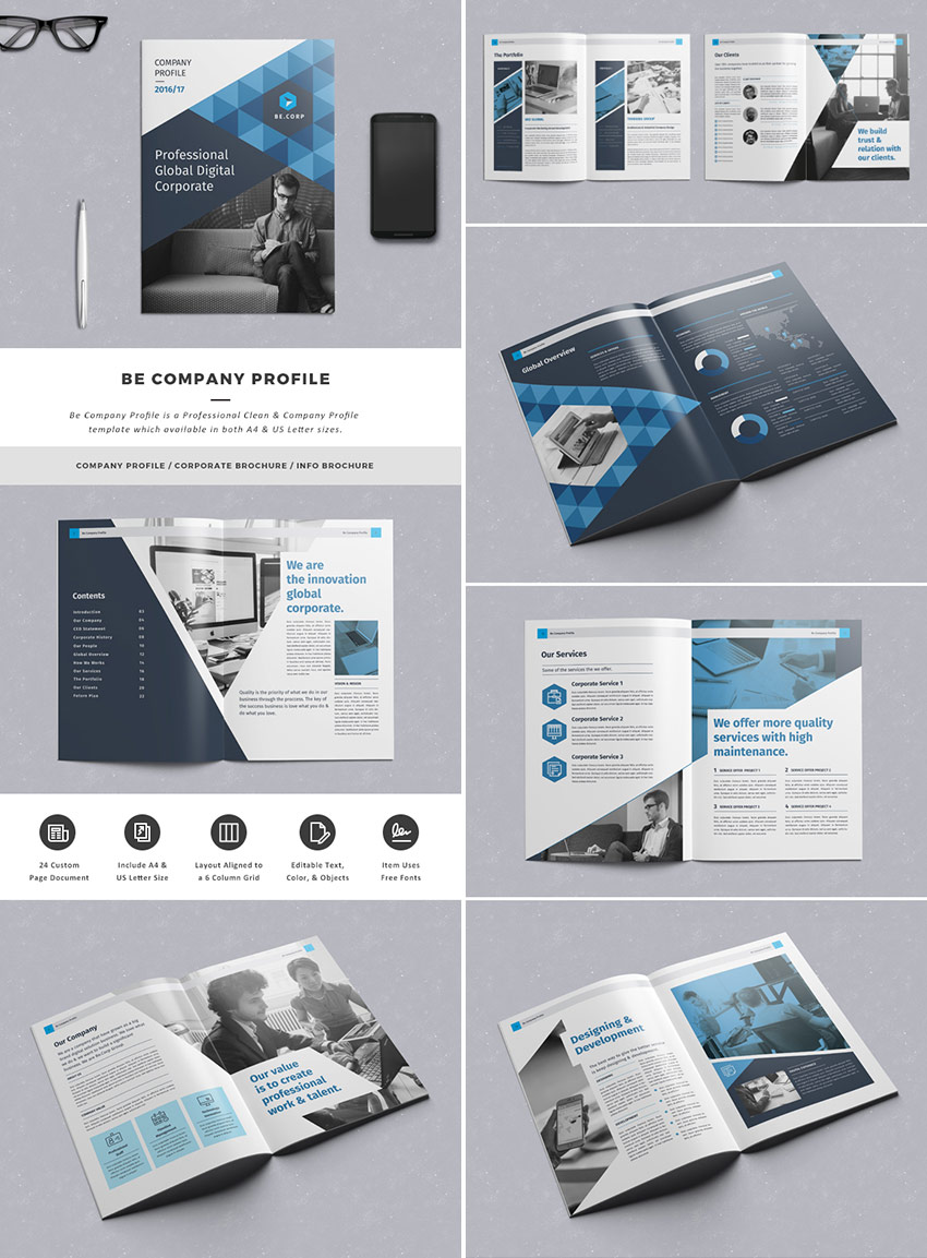 20 best indesign brochure templates for creative for Brochure for web design company