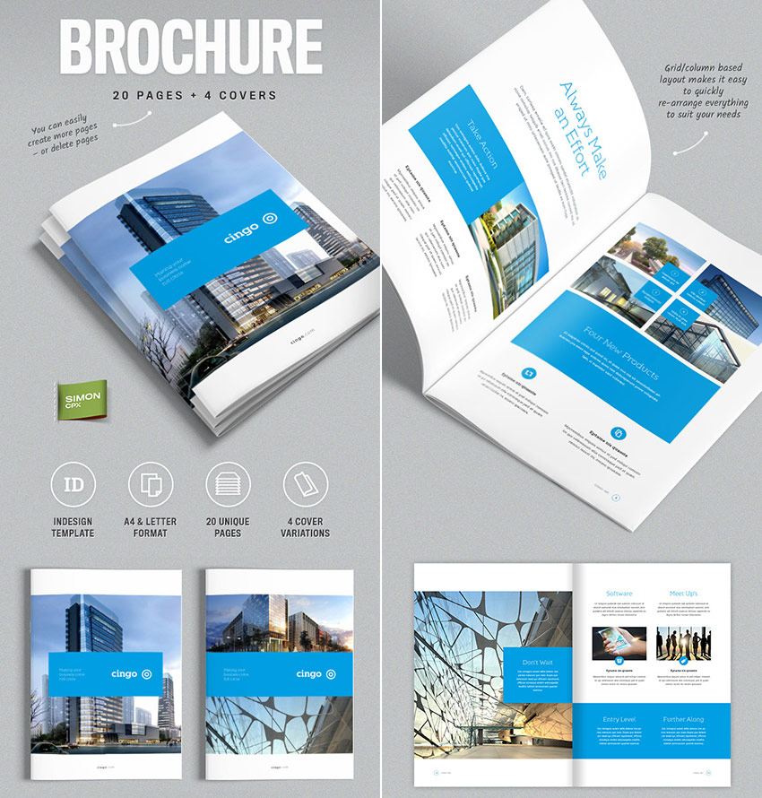 20 best indesign brochure templates for creative for Product brochure template