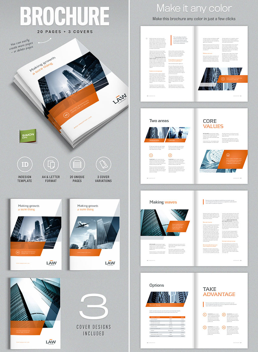 brochure template for indesign a4 and letter