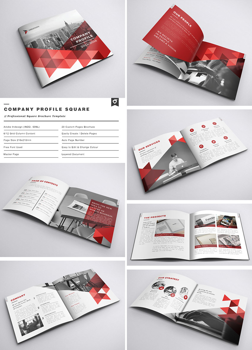 20 best indesign brochure templates for creative business marketing company profile square indd brochure accmission Choice Image