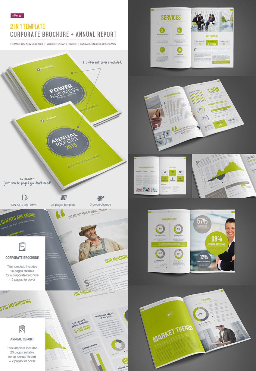 Best InDesign Brochure Templates For Creative Business Marketing - Indesign templates brochure