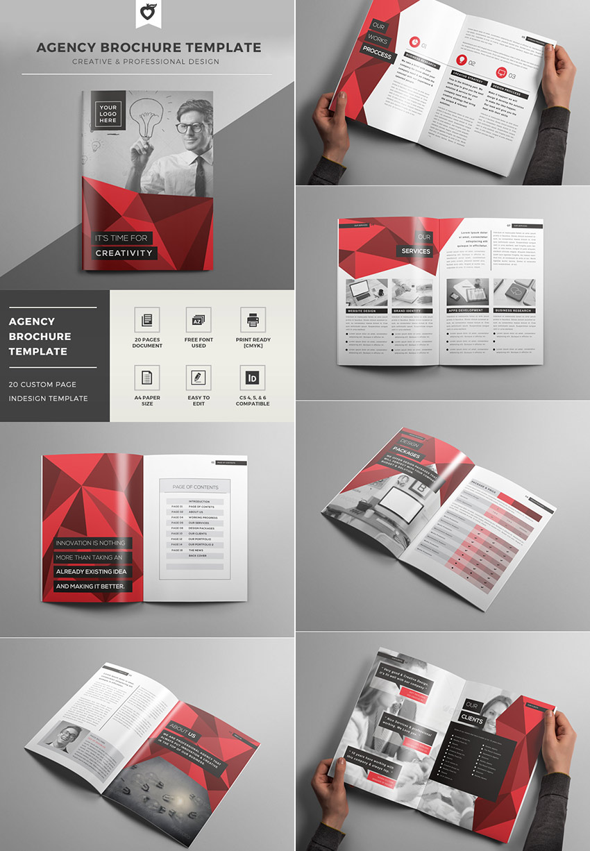 best indesign brochure templates for creative business marketing creative agency indesign brochure template