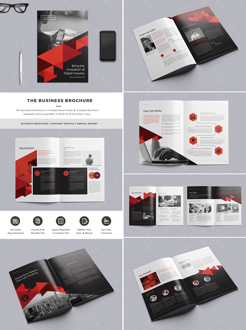 20 best indesign brochure templates for creative business marketing the business brochure template file accmission Images
