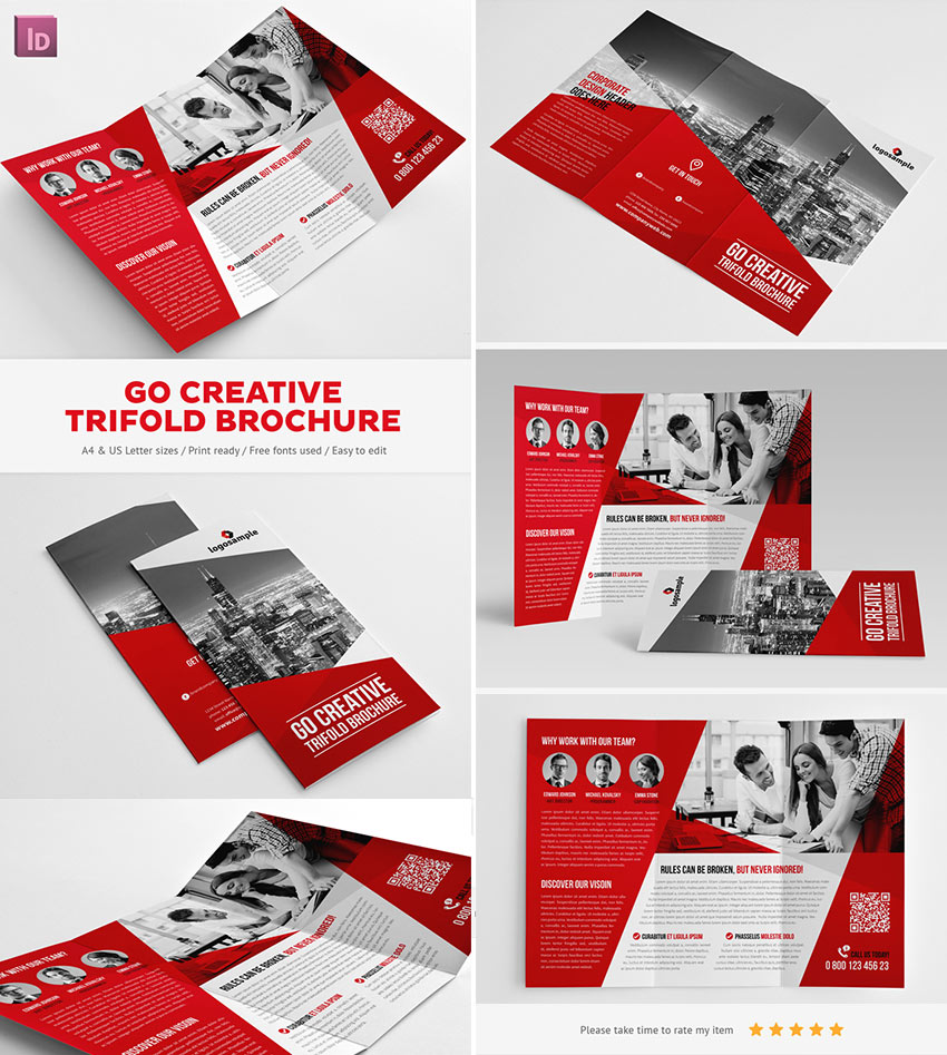 unique brochure templates - 20 best indesign brochure templates for creative