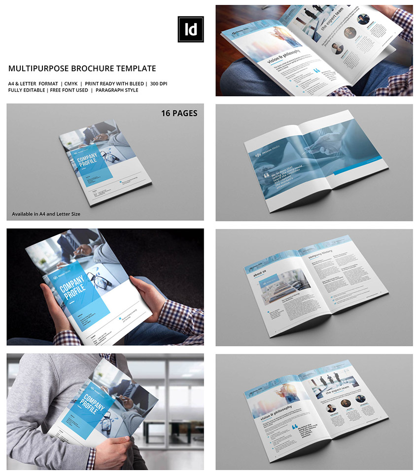 Multipurpose INDD Corporate Brochure