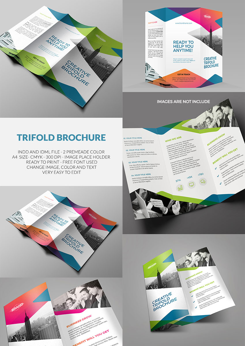 20 best indesign brochure templates for creative for Indesign trifold brochure template