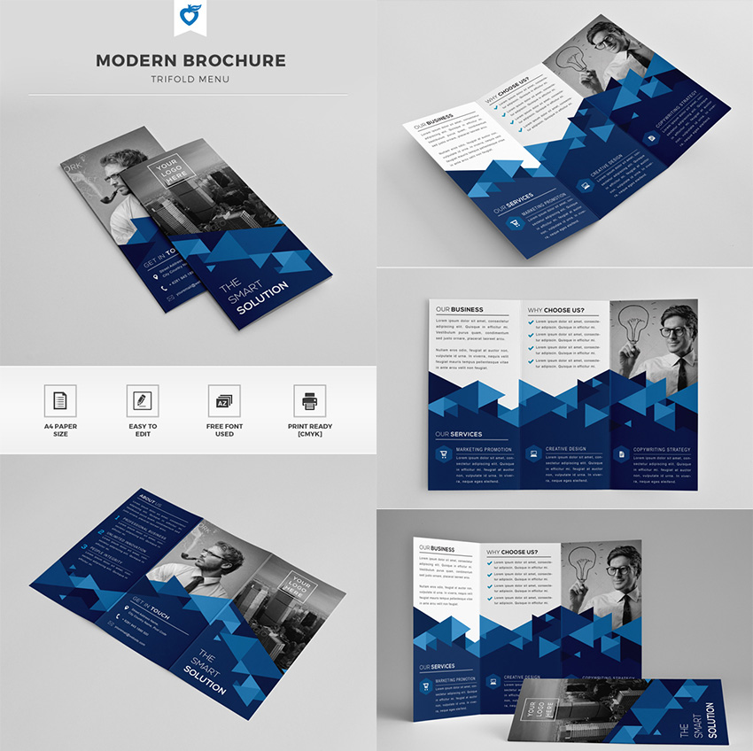 20 best indesign brochure templates for creative for Modern brochure design templates