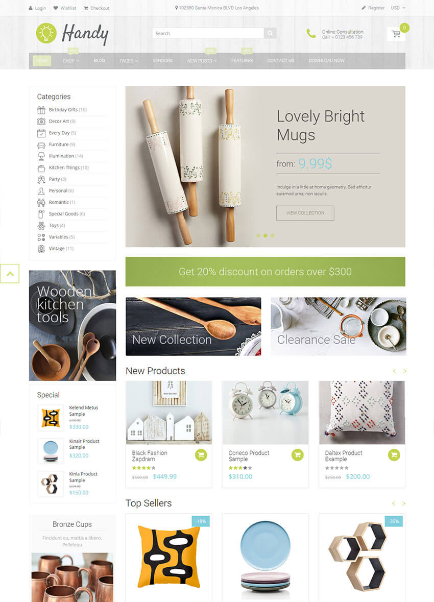 Handy Handmade Shop Shopify Theme