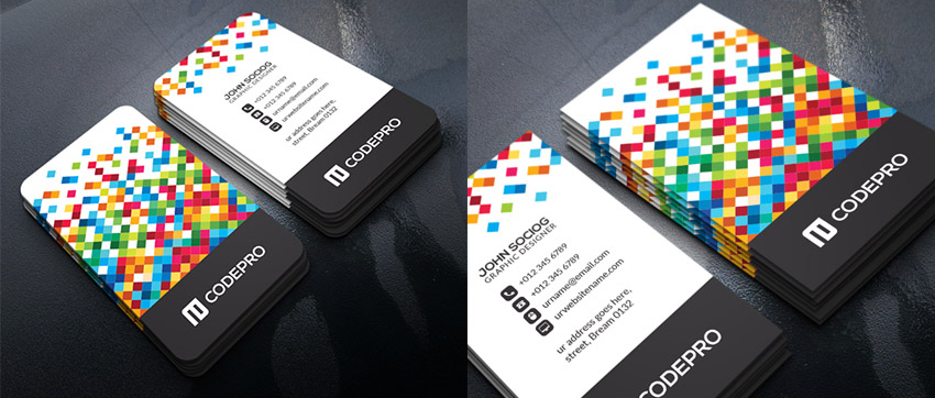 15 creative business card templateswith unique designs unique business card template wajeb Images