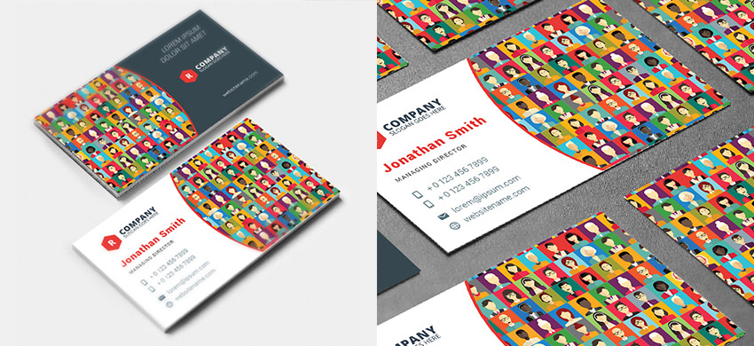 15 creative business card templateswith unique designs creative avatars business card template fbccfo Choice Image