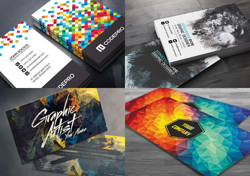 Creative Business Card TemplatesWith Unique Designs - Business card template photoshop psd